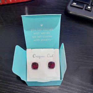 Jewelry - Origami Owl Garnet Earnings